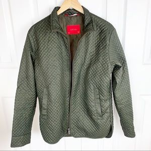 ZARA MAN M Quilted Olive Green Jacket